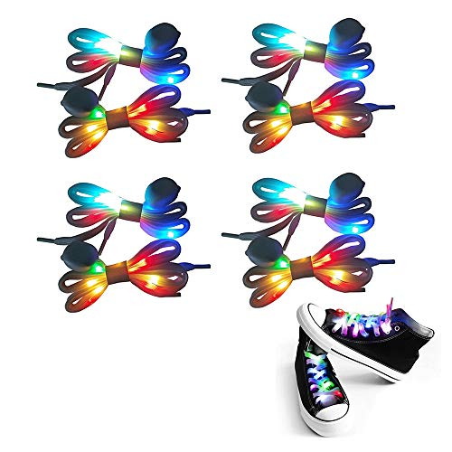 Light Up Shoelace (APEXPOWER LED Shoelaces Light Up Waterproof Shoes Laces Shoestring for Party Hip-hop Dancing Cycling Hiking Skating)