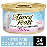 Purina Fancy Feast Wet Kitten Food, Tender Ocean Whitefish Feast - (24) 3 oz. Cans
