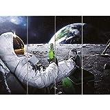 Doppelganger33LTD CARLSBERG BEER SPACE PLANET E H MOON ASTRONAUT UFO GIANT ART PRINT POSTER OZ169