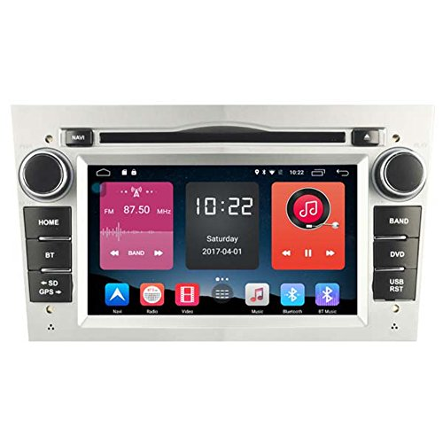 Autosion In Dash Android 6.0 Car DVD Player Radio Head Unit GPS Navigation Stereo Silver for Opel Astra Vectra Corsa Antara Combo Vivaro Zafira Meriva Support Bluetooth SD USB Radio OBD WIFI DVR 1080P by Autosion