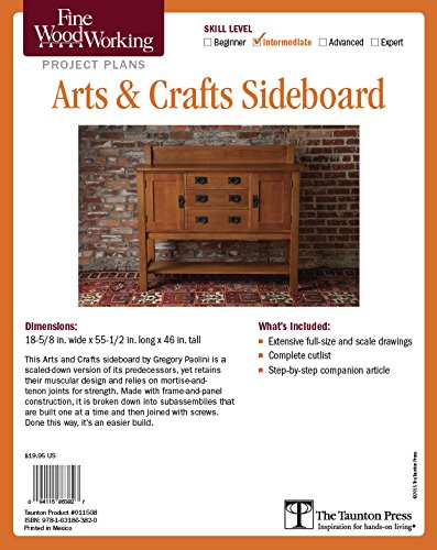 Sideboard Plan - Fine Woodworking's Arts & Crafts Sideboard Plan