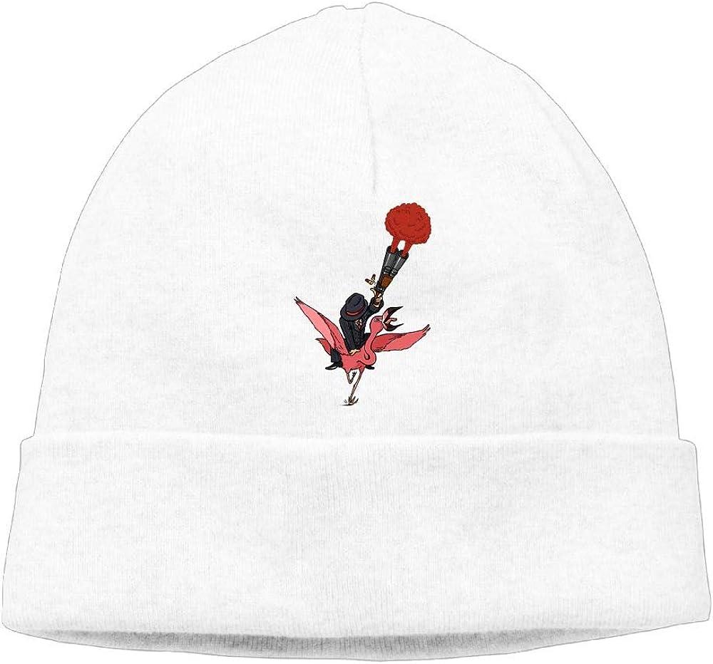 Flamingo Rider Beanies Knit Hats Skull Caps Mens White