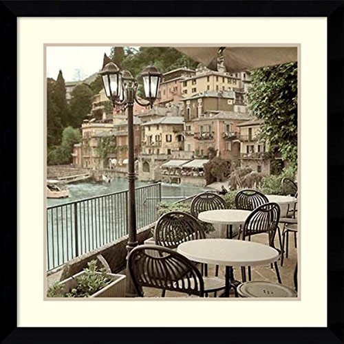 Framed Art Print, Porto Caffe, Italy' by Alan Blaustein: Outer Size 33 x 33