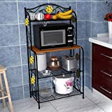 Home Kitchen Baker's Rack Utility Microwave Stand Storage Cart Workstation Shelf