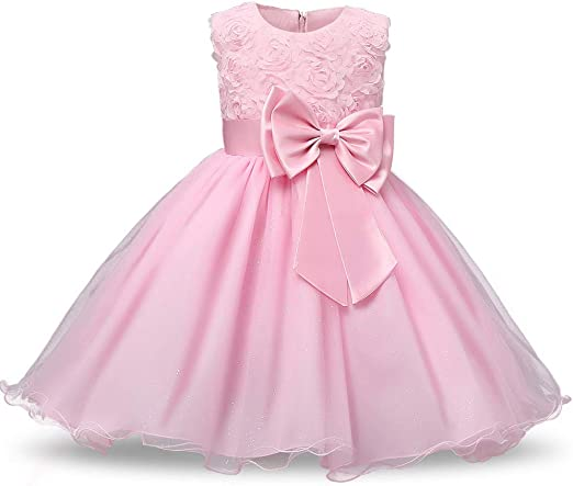 Flower Girls Dress Baby Princess Christening Wedding Bridesmaid Party Formal