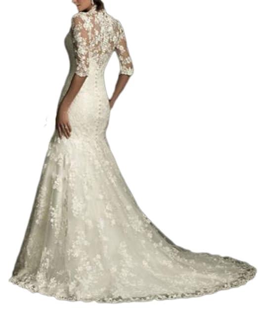 YAONAI Abiti da Sposa Scollo a V da Donna 888933654c9