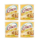 Crisco Butter Flavor All Vegetable Shortening, 48 oz 4 Pack