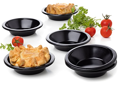 Set of 6 Round Cake pan Pie tins cheesecake tart quiche tartlet pans Baking size 3.9 inches