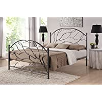 Baxton Studio Zinnia Tree Style Antique Bronze  Iron Metal Platform Bed, Queen