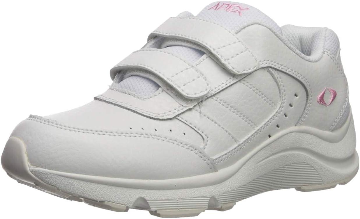 Apex Women's Double Strap Walker White Sneaker