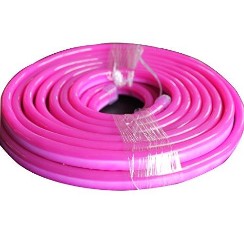 Vasten LED Neon Rope Light 30 Ft Pink Jacket Pink Light 12V