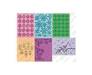Cuttlebug 2000220 Embossing Folders, Winter Wonderland, 6 Folders
