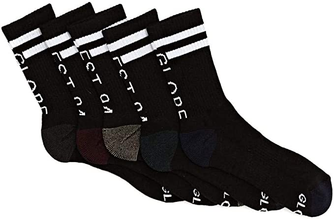 Globe Mens Prime Crew Sock 5 Pack