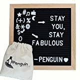 Felt Letter Board 10x10 With Letters – Felt Board with Letters / Message Board Includes 340 Felt Board Letters