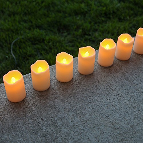 8 Ivory Flameless Led Resin Votives Battery Operated Warm White And Color Changing Modes