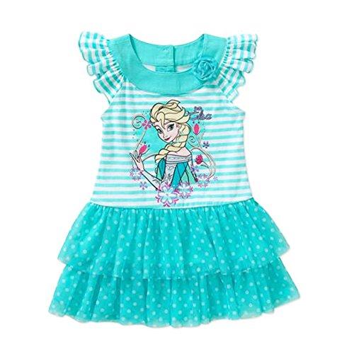 Disney Frozen Elsa Short Sleeve Tee Shirt Dress Baby Girls' 24 Months