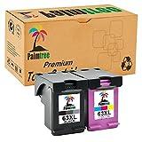 Palmtree 2PK High Yield Replacements Compatible HP 63XL Ink Cartridge for Envy 4520 4512 4522 4524 Officejet 4650 3830 3831 3833 4652 4654 Deskjet 3630 1112 2130 2132 Printer (1Black,1Tri-Color)