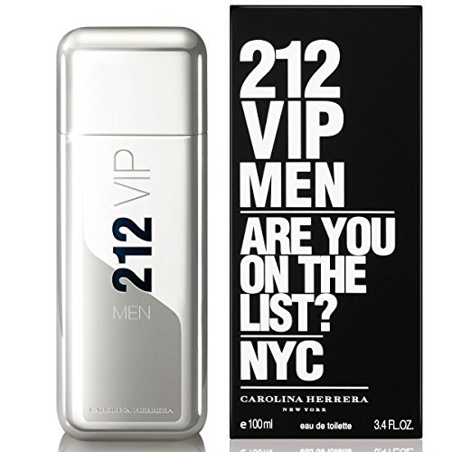 212 VIP Men by Carolina Herrera 3.4 Ounce / 100 ml Eau de Toilette Men Cologne ()