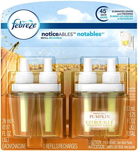 Febreze Noticeable Fresh Fall Pumpkin Dual Oil Refill Air Freshener (2 Count, 1.75 Oz), 0.11 Pound