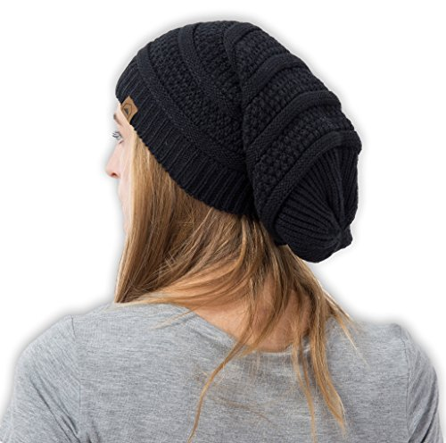 eanie by Tough Headwear - Chunky, Oversized Slouch Beanie Hats for Men & Women - Stay Warm & Stylish - Serious Beanies for Serious Style (Knit Slouch Hat)
