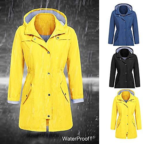 Giallo Autunno Inverno Con Cappotto Donna Outwear Felpa Giacca Vicgrey Moda Parka Antivento Impermeabile Donna Cappuccio ❤ YqOx6AZ