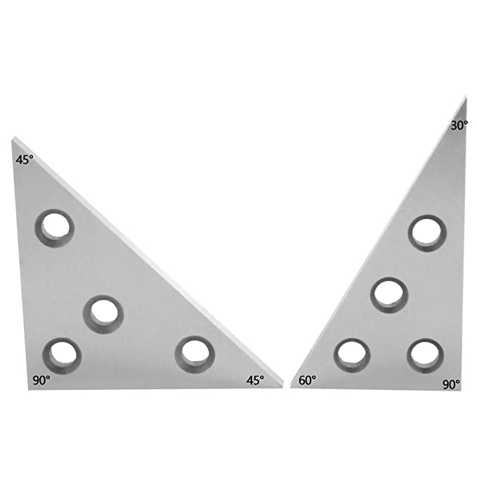 2PCS AL1309C Angle Block Manganese Steel Silver Precision Sleeve Angle Ruler Measurements Tool Set