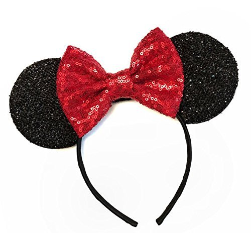 VANVENE Red Mouse Ears Handband, Rainbow Mouse Ears, Sparkly Mouse Ears, Mouse Ears, Electrical Parade Ears