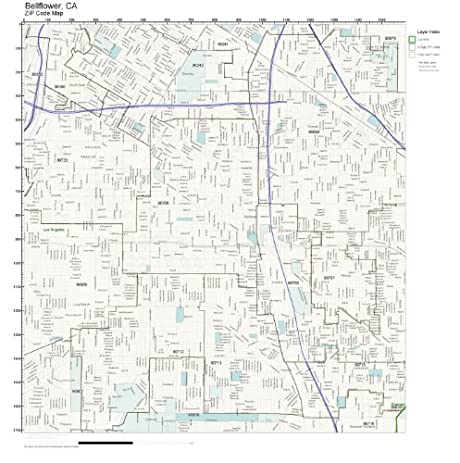 Bellflower Zip Code Map Zip Code Map