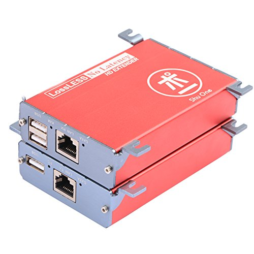 HDMI USB KVM Extender,262ft (80m) HDMI +KVM USB Extender with PoE Transmitter and Receiver Over Cat5/5e/6/6e RJ45,No Signal Loss or Latency,Extend Up To 80m 262ft Support AV1080P, DVR,Computer,Loptop by ShuOne (Image #7)