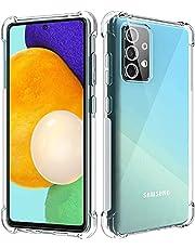 Samsung Galaxy A72 Silicone Case Transparent TPU Gorilla Anti-shock Protector Camera Shockproof Corners - Clear