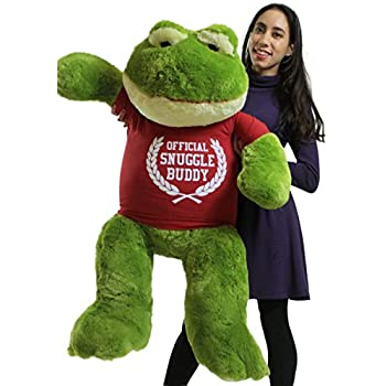 Amazon Com Big Plush Giant Stuffed Frog 48 Inch Soft 4 Foot Wears