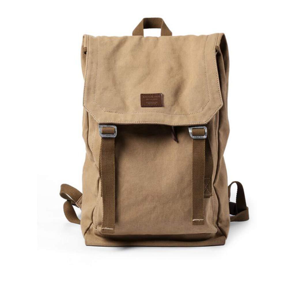 HLJ Mode Lässig Männer Rucksack Reise Canvas Männer Tasche Schultasche Computer Tasche (Farbe   Khaki)