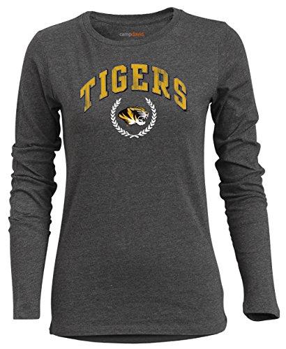 Ncaa Missouri Tigers Womens Bff Long Sleeve Crewneck Tee  Medium  Charcoal Heather
