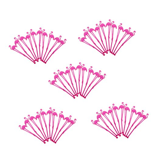 Fityle Plastic Flamingo Coffee Stirrers, Stir Sticks for Tea & Hot or Cold Beverage by Fityle (Image #2)