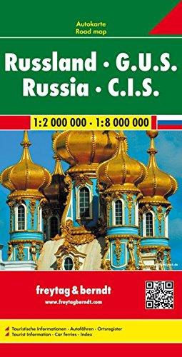 Russland - G.U.S., Autokarte 1:2.000.000 - 1.8.000.000, freytag & berndt Auto+Freizeitkarten