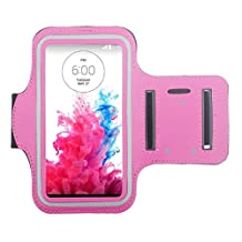 ABC® Sports Gym Armband Arm Band Case Cover for LG G3 D850 D855 VS985 (Hot Pink)