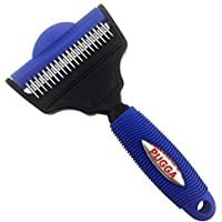 Pet 2 in 1 Deshedding Tool - Dog and Cat Grooming Brush for Shedding and Undercoat Rake for Dogs with Long Hair