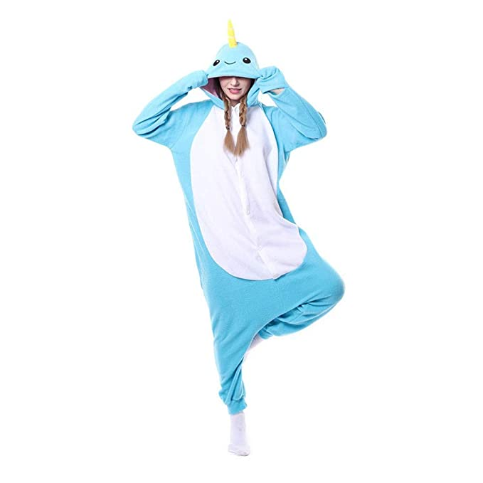 DASENLIN Pijama Cosplay con Unisex Ropa para Mujer Mono Forro Polar, Unicornio, Dibujos Animados