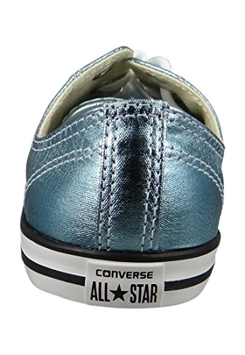 Converse Womens Chuck Taylor All Star Dainty Ox Canvas Trainers Blue Coast/Black
