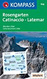 Rosengarten, Catinaccio, Latemar: Wandern / Rad. Carta escursioni / bike. GPS-genau. 1:25.000