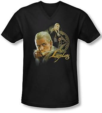 733906dd364028 Lor - Männer Legolas V-Neck T-Shirt: Amazon.de: Bekleidung