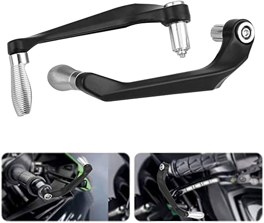 Blue Clutch Handlebar,Akozon Motorcycle Brake Clutch Levers Protect Guard Accidental Contact Handlebar 22mmv 1 Pair