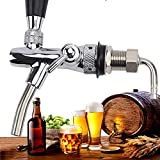ProMaker Adjustable Beer Tap Faucet Stainless Steel Draft Beer Faucet Flow Controller Chrome Plating Shank G5/8 Tap Keg For Kegerator