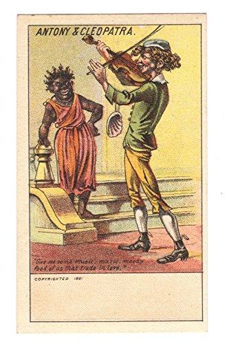 Antony & Cleopatra Humorous Shakespeare Victorian Trade Card 1881