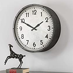 Uttermost Wall Clock with Ivory Clock Face