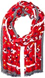 Marc Jacobs Women's Painted Flowers and Hearts Stole Scarf, red/multi, One Size