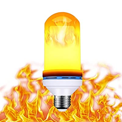 YOUR GALLERY 99 LED 7W 3 Modes E26 Flame Effect Fire Light Bulbs-Burning Light Flicker Flame Lamp Corn Bulb Fire Effect Decorative