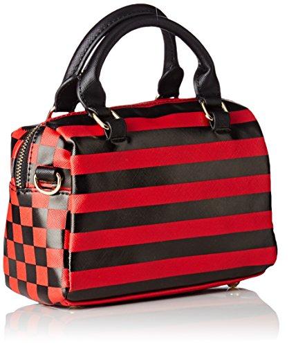 Rosso Bowling Caesars L'aetelier Et Donna rouge Noir Lola Small Borse WOFOYwASf