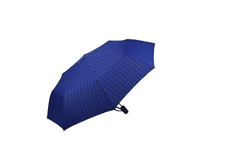 Damas de colores patrón Damasco fuerte y durable automático abatible paraguas (3428A-Azul)