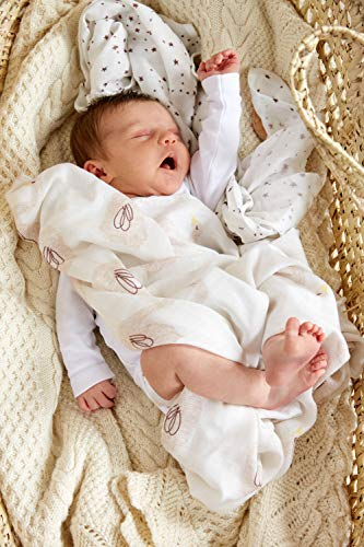 LASSIG HEAVENLY SOFT SWADDLE L PEQUENO CISNE DE AGUA DE